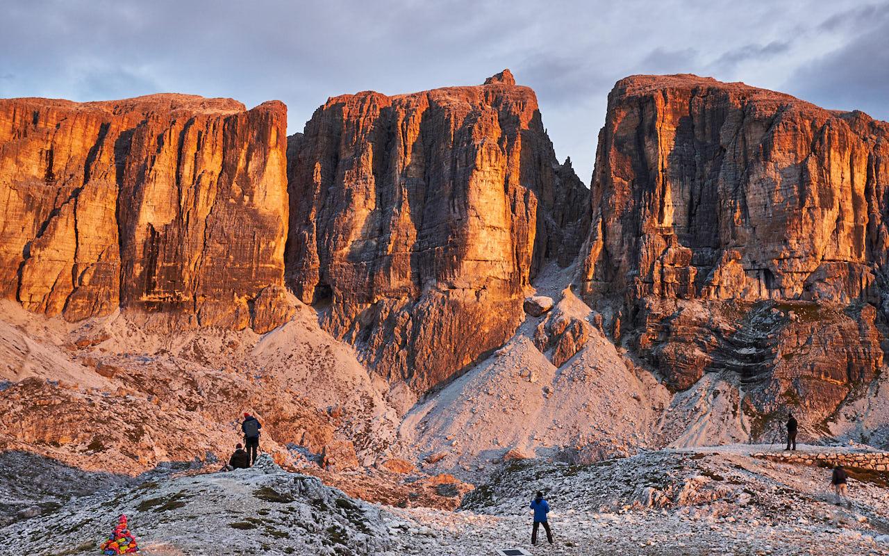 Gelungenes Zusammenspiel aller Elemente bei der Dolomiten Fotowanderung